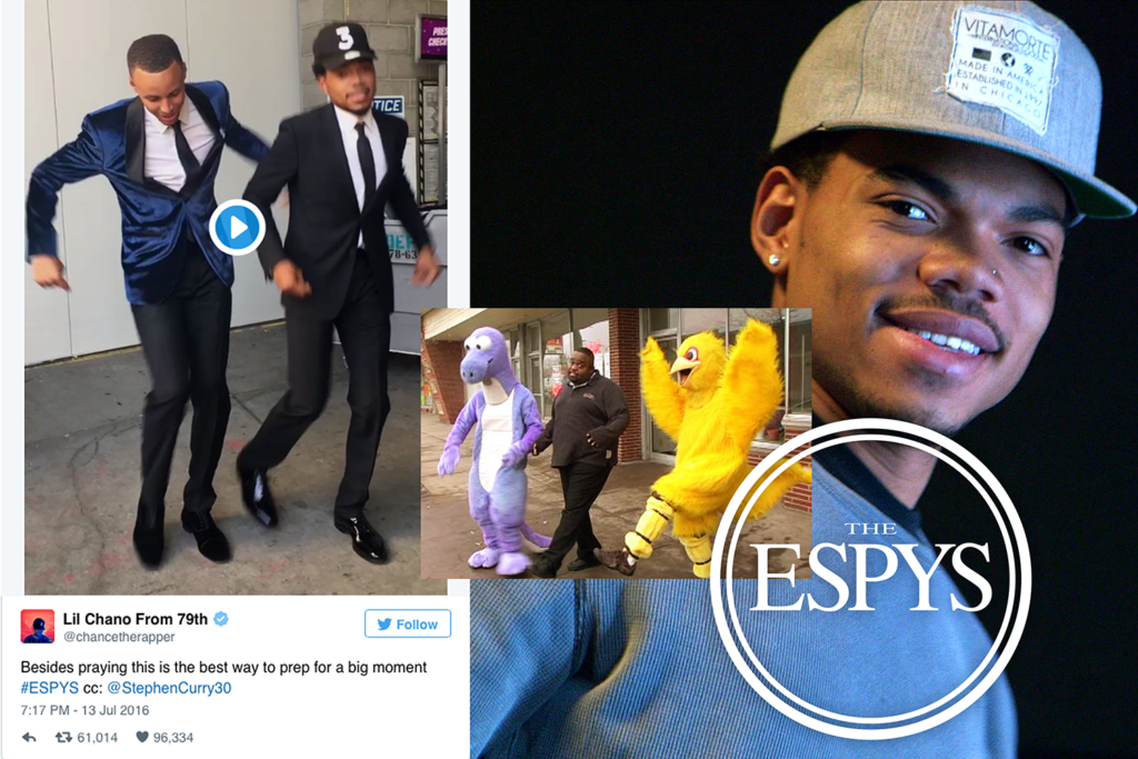 steph curry and chance the rapper prep for the espys with jones bbq